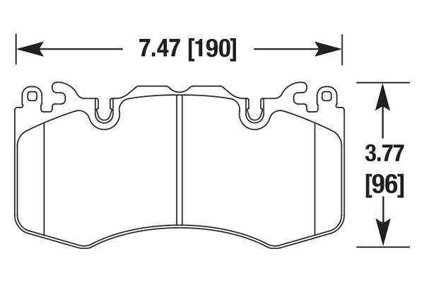 hawk brake pads diagrams HB685