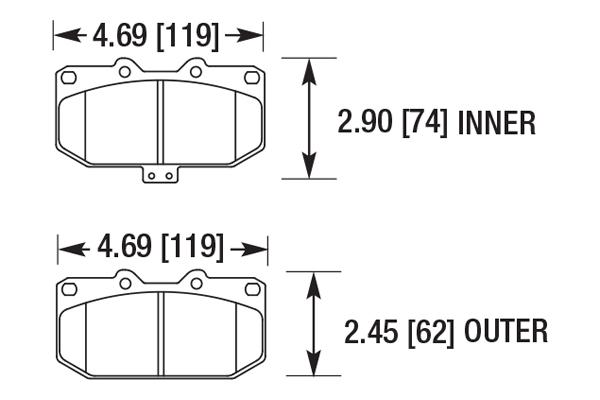 hawk brake pads diagrams HB700