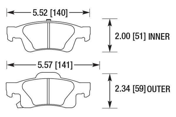hawk brake pads diagrams HB702