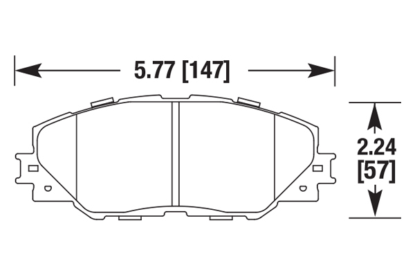 hawk brake pads diagrams HB704