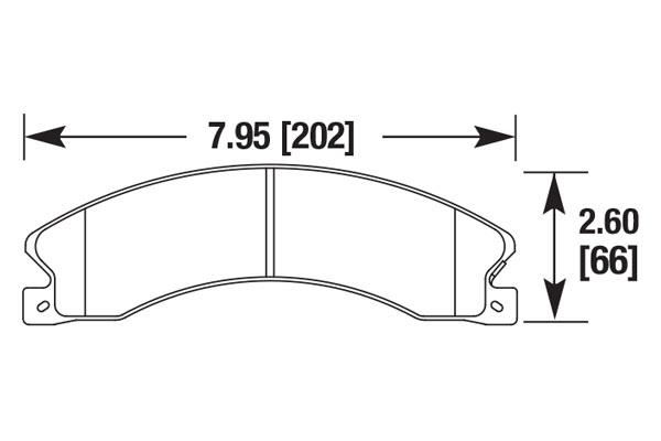 hawk brake pads diagrams HB705
