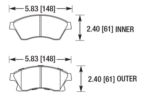 hawk hb706z 714 hawk performance ceramic brake pads free shipping rh autoanything com ebc brake pad diagrams disc brake pad diagram