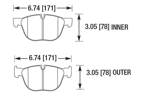 hawk brake pads diagrams HB708