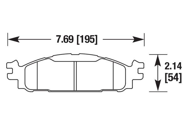 hawk brake pads diagrams HB710
