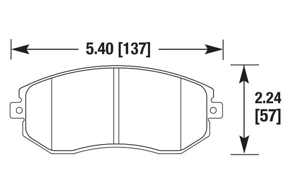hawk brake pads diagrams HB711