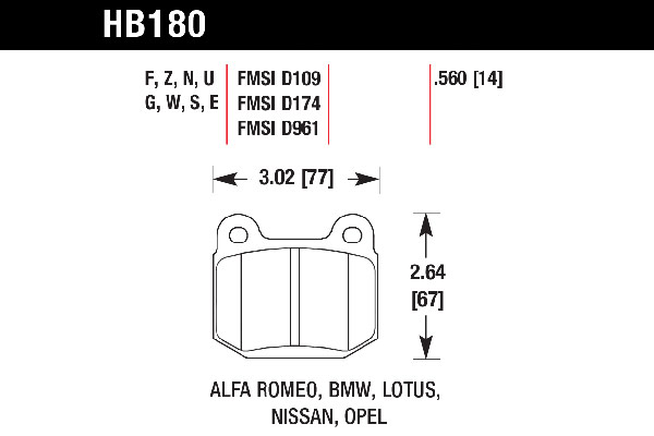 hawk hb180b 560 hawk hps 5 0 brake pads free shipping rh autoanything com Whelen Light Bar Wiring Diagram LED Light Bar Wiring