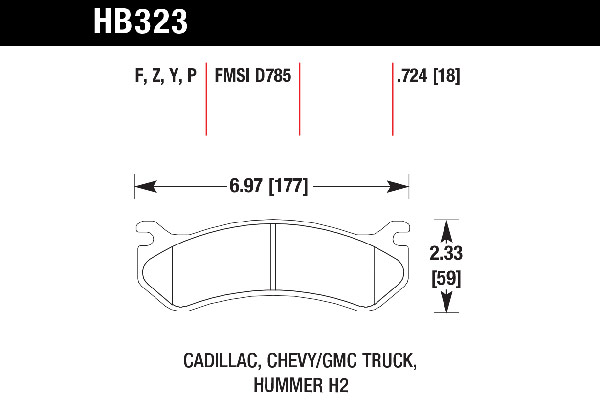 hawk brake pads tech spec diagram HB323
