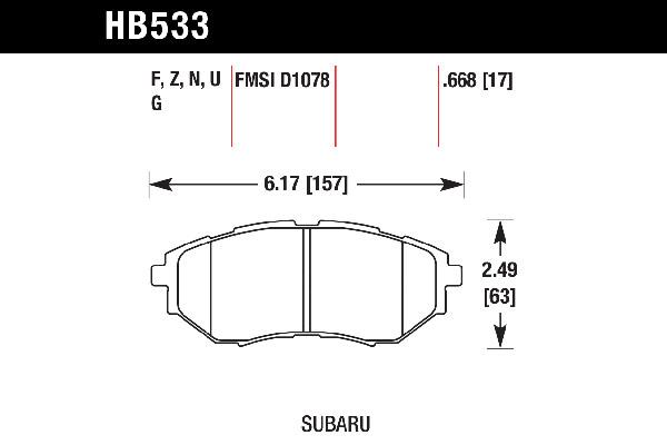 Hawk Performance HB533B.668 HPS 5.0 Disc Brake Pad