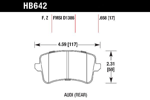 Hawk HB642B.658 - Hawk HPS 5.0 Brake Pads - FREE SHIPPING!
