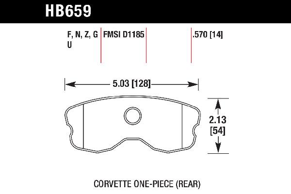 hawk brake pads tech spec diagram HB659