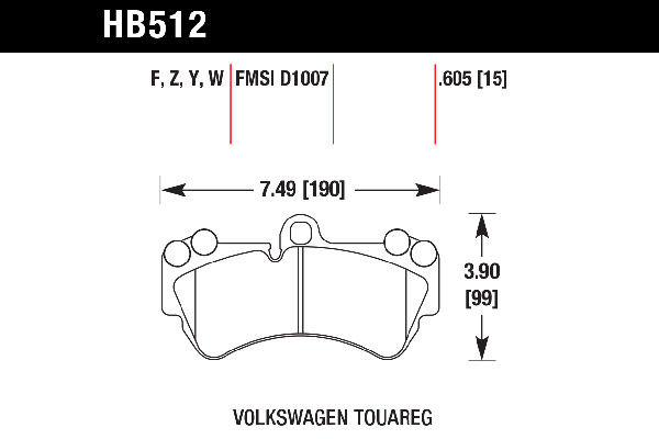 hawk brake pads tech spec diagram HB512