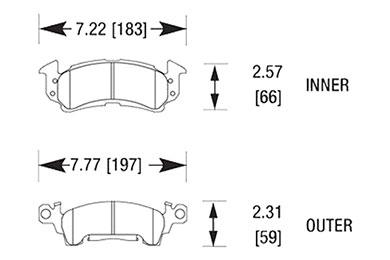 hawk brake pads diagrams HB103