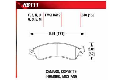 hawk brake pads diagrams HB111