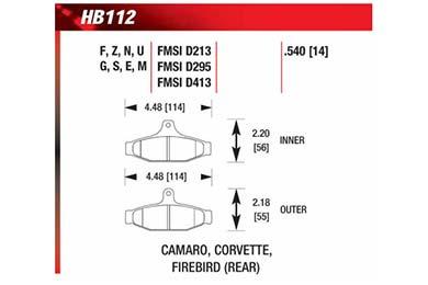 hawk brake pads diagrams HB112