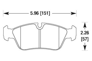 hawk brake pads diagrams HB136