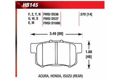 hawk brake pads diagrams HB145