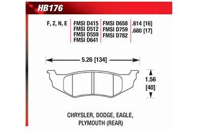 hawk brake pads diagrams HB176