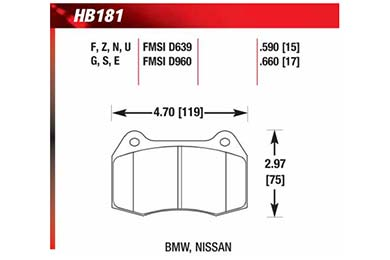 hawk brake pads diagrams HB181