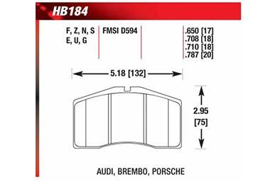 hawk brake pads diagrams HB184