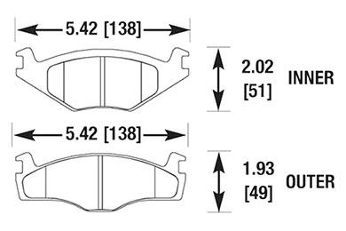 hawk brake pads diagrams HB189