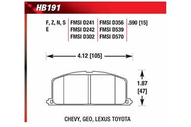 hawk brake pads diagrams HB191