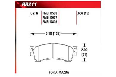 hawk brake pads diagrams HB211