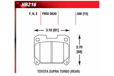 hawk brake pads diagrams HB216