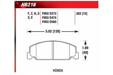 hawk brake pads diagrams HB218