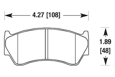 hawk brake pads diagrams HB236