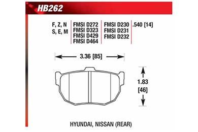 hawk brake pads diagrams HB262