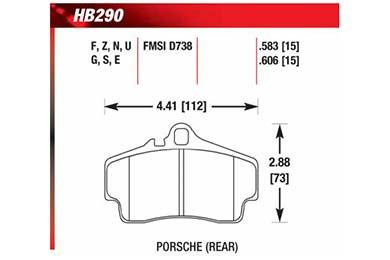 hawk brake pads diagrams HB290