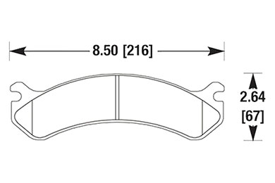 hawk brake pads diagrams HB322