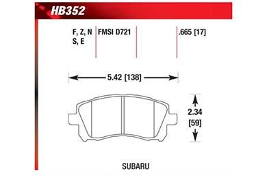 hawk brake pads diagrams HB352