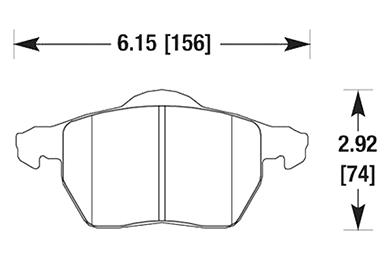 hawk brake pads diagrams HB354