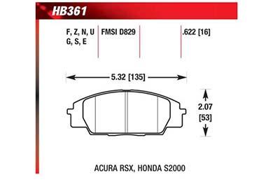hawk brake pads diagrams HB361