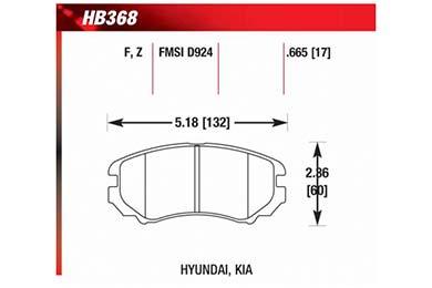hawk brake pads diagrams HB368
