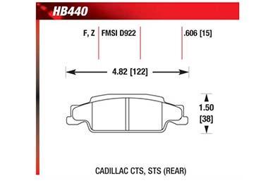 hawk brake pads diagrams HB440
