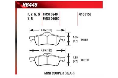 hawk brake pads diagrams HB445