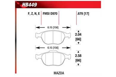 hawk brake pads diagrams HB449