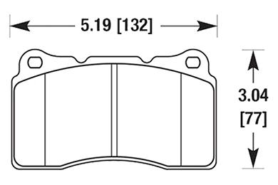 hawk brake pads diagrams HB453