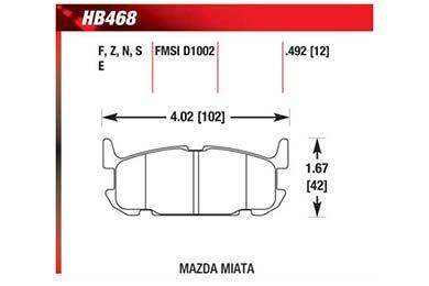 hawk brake pads diagrams HB468