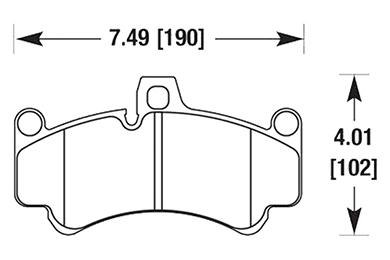 hawk brake pads diagrams HB483