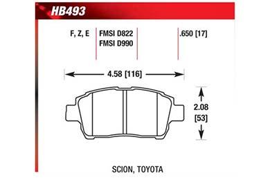 hawk brake pads diagrams HB493