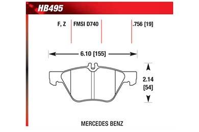 hawk brake pads diagrams HB495