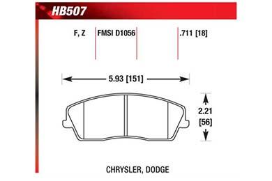 hawk brake pads diagrams HB507