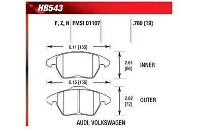 hawk brake pads diagrams HB543