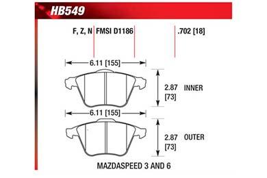 hawk brake pads diagrams HB549