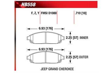 hawk brake pads diagrams HB558