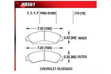 hawk brake pads diagrams HB561