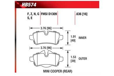 hawk brake pads diagrams HB574